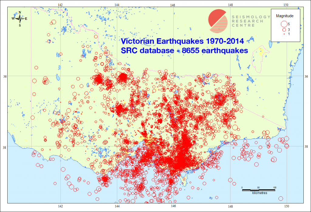 Victorian Earthquakes 1970-2014 SRC